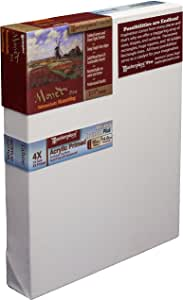 Masterpiece Monet Pro 6-Inch by 12-Inch, Tahoe Cotton 10-Ounce Acrylic Primed