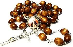 Relic Rosary *三级圣迈克尔·德桑斯**守护者 Miguel de los Santos 棕色