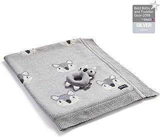 Nuby Little Fox 棉質毛毯,搭配搖鈴玩具