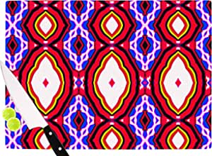 "KESS InHouse DR1028ACB01 Dawid Roc ""Inspired By Psychedelic Art 5.08 厘米红色抽象切割板,多色 多种颜色 11.5 x 15.75"" DR1028ACB02"