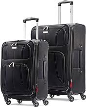 Samsonite 新秀麗 Aspire xLite 可擴展 Softside 行李箱套裝 2件套 (20/29) 帶輪 黑色