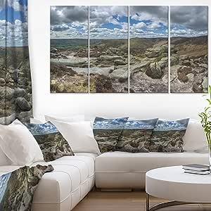 designart 云朵和宝石 Under 野生云彩风景油画艺术品