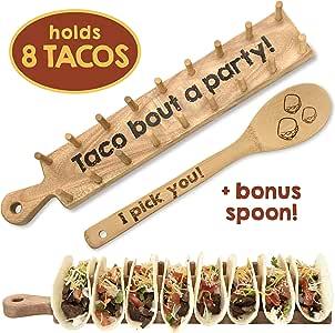 Wooden Taco 厨房托盘支架 8 Taco Holder
