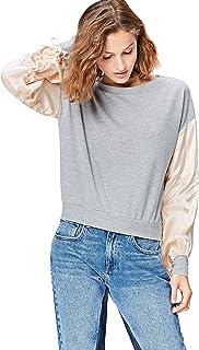 Find 女式缎面袖子运动衫