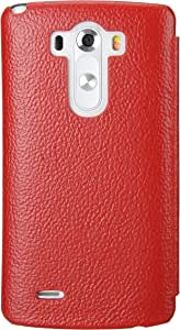 Melkco Melkco Premium Leather Case for LG Optimus G3 - Face Cover Book Type (Ver.3) (Red LC) - LGD850LCFB3RDLC