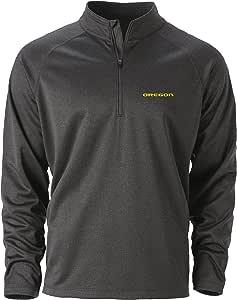 Ouray Sportswear NCAA 俄勒冈大学鸭队 男式 Quest 1/4 拉链上衣,黑麻灰色,2X