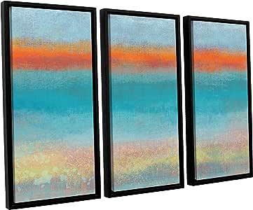 """ArtWall Jan Weiss's Outer Limits 2 3 Piece Floater Framed Canvas Set Artwork, 24"""" x 36"""""""