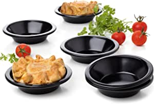 6 件装圆形蛋糕模具 Pie 平底锅,尺寸 8.89 厘米 黑色 3.9 unknown