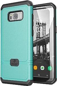 Jaagd Galaxy S8 手机壳,减震纤薄双层握把手机壳适用于三星 Galaxy S8711841501747 水绿色