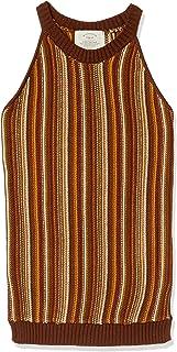 ATSUGI grid 套头针织衫【Ca】美式袖口条纹针织衫 女士 橙色 日本 F (FREE サイズ)