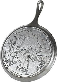 "Lodge L9OGWLMO 野生动物系列 带驼鹿场景的铸铁煎锅,黑色,10.5""(约26.67厘米)"