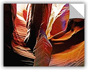 """ArtWall """"Linda Parker's Slot Canyon Light from Above 4"""" Removable Wall Art, 14"""" x 18"""""""