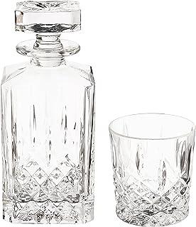 Waterford 马卡姆 11盎司 双件 老式玻璃杯和方形醒酒器套装,无铅水晶