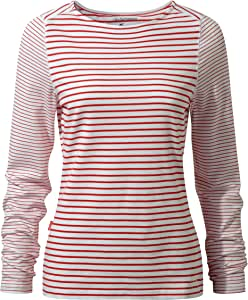 Craghoppers 女式 NAT Geo NosiLife Erin 长袖上衣 US4/UK8 红色 CWT1189