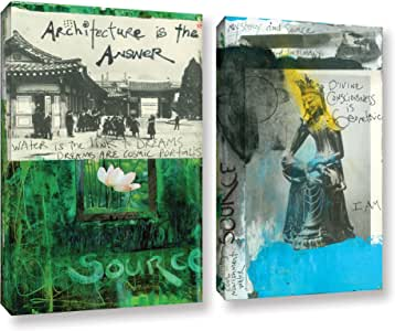 """Elana Ray's Art Journal Architecture 2 Piece Gallery Wrapped Canvas Set, 36 x 48"""""""