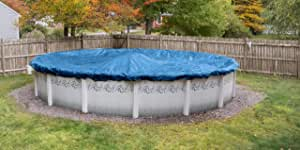 Pool Mate 5412 Econo-Mesh Winter Cover for Round Above Ground Swimming Pool Caribbean Blue 33-Foot Pool