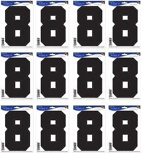 Beistle 12 张装 Peel 'N Place 贴纸 黑色 8 54459-8