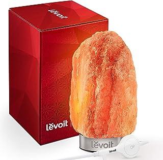 LEVOIT Kyra Himalayan 盐灯,粉色水晶手工雕刻现代化岩盐灯带 18/8 不锈钢底座,可调光触控开关,节日礼物(UL 认证,含 2 个额外原装灯泡) 需配变压器