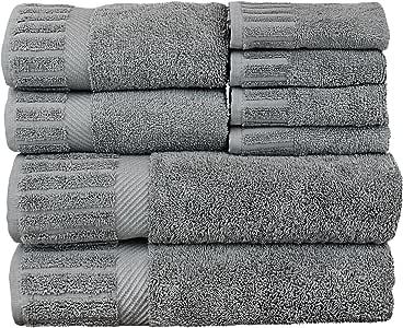 BC BARE COTTON 奢华毛巾系列 * 土耳其棉 灰色 8 件套 566-511-01