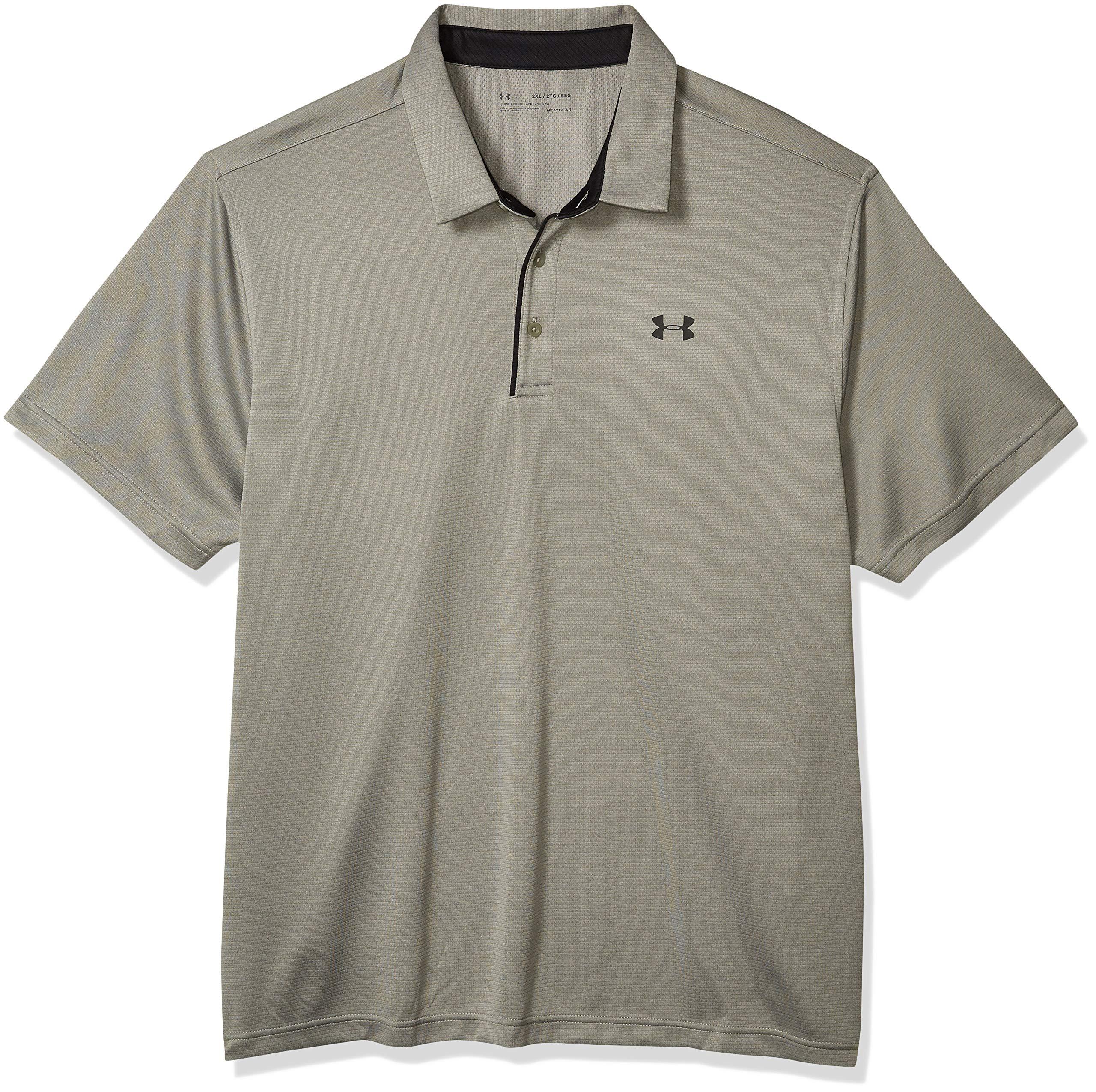 アンダーアーマーDEMAテックポロメンズポロTシャツ、軽量で通気性と快適な半袖ポロシャツ