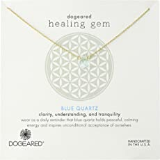 "Dogeared 亚马逊进口直采 美国品牌 ""Lasting Healing Gems"" 持续宝石系列 蓝 女士项链 16英寸 (约40厘米)"