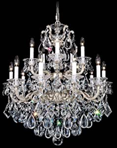 Schonbek 5075-55O 施华洛世奇照明 La Scala 吊灯,湿黑色 需配变压器