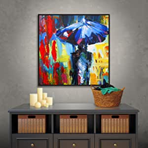 """ArtWall Susi Franco's Downtown Stroll Gallery Wrapped Floater-Framed Canvas, 14 by 14"""""""