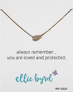Amazon Collection 亚马逊自有品牌 10K黄金 施华洛世奇水钻 天使之翼吊坠项链