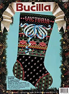 BUCILLA 圣诞 VICTORIAN SAMPLER 十字绣长筒袜套装 82830