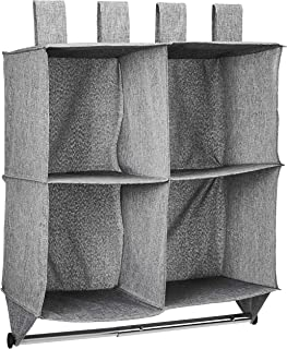 AmazonBasics 亚马逊倍思 4 层悬挂式收纳衣橱 带挂杆