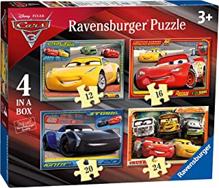 Ravensburger 6894 Disney Pixar 汽车总动员 3 4 盒拼图 - 12、16、20 和 24 块
