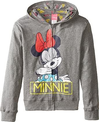 Disney Girls' Minnie Mouse Minnie Reversible Zip Up Hoodie
