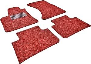 Autotech Zone 重型定制汽车地垫 适合 2013-2017 斯巴鲁 XV Crosstrek Wagon 四件套(红色和黑色) 2012-2017 Subaru XV Crosstrek SUBARUXVCROSSTREKWAG2012-2017-4MAT-R&B