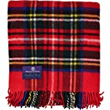 苏格兰王子高地格子花呢 * 纯羊毛蓬松围巾 Royal Stewart J4050028-008