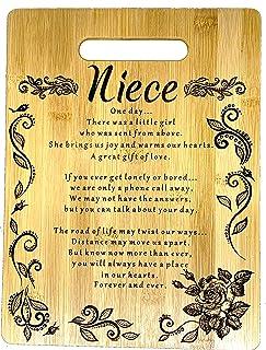 给侄女的生日礼物,圣诞节侄女礼物雕刻竹砧板 22.86 厘米 x 30.48 厘米