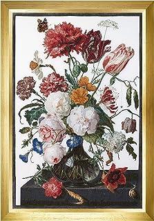 Thea Gouverneur TG785 十字绣套件 105.41 cm X 69.85 cm,静物寿命 W/亚麻花(36