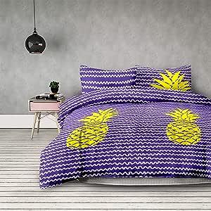 AmeliaHome 菠萝床上用品 Pineapple 200x200 + 2 * 63x63 4071