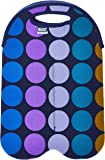 BUILT NY 2-Bottle Neoprene Wine/Water Bottle Tote, Plum Dot