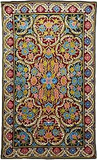 Novica 270410 Kashmiri 节日 LI 链条针脚地毯