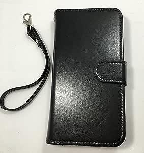 Note 4 [腕表] Note 4 手机套钱包新款 - 带身份证夹的优质 PU 皮革钱包式手机套/信用卡插槽/内袋/腕带/翻盖手机套 - 适用于 Galaxy Note 4 的信用卡套黑色
