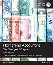 Horngren's Accounting: The Managerial Chapters, Global Edition (English Edition)