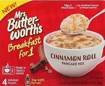 Mrs. Butterworth's Breakfast for 1,Single Serve 煎饼混合,几分钟内可保暖早餐