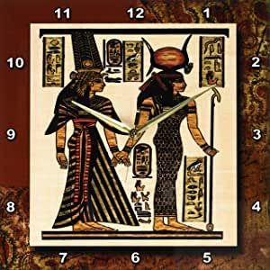 3dRose dpp_99429_2 Ancient Egyptian Papyrus-Wall Clock, 13 by 13-Inch