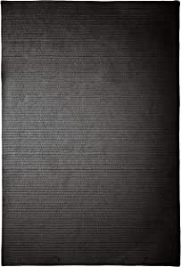 Simply Home Solid Rug, 3 by 5-Feet, Black
