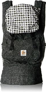 Ergobaby 经典屡获殊荣的人工学多位置婴儿背带,带 XL 个储物袋,黑色斜纹