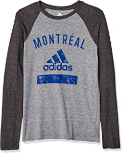 MLS Montreal Impact Boys -Triblend Equipment Long sleeve Tee 灰色 Large (14-16)