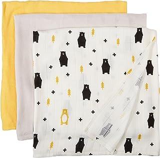 Tula 毛毯套装 - 黄色,灰色,白色