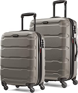 Samsonite 新秀丽 Omni PC Hardside 可扩展行李箱,带万向轮,银色,2-Piece Set (20/24)