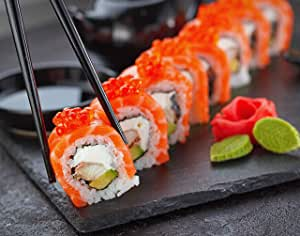"ArtDash Studio 帆布相框-自己厨房艺术:寿司色 Sushi Roll 8""×10"""