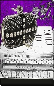 "Picture Perfect International 字样""Rocker Chic Purple""由 BY Jodi 创作,艺术微喷印刷油画墙艺术 18"" x 30"" x 1"" 704-2446_1830"